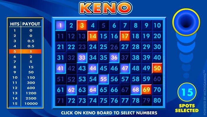 Play Keno Online Casino Game with Bonus Offers in Canada