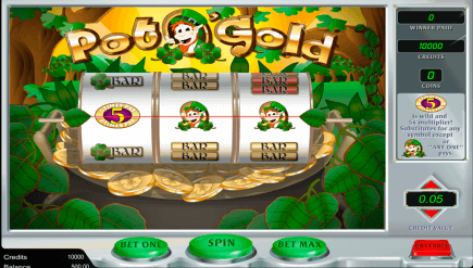 Simple Styled Pot O' Gold Slot by Amaya in Review